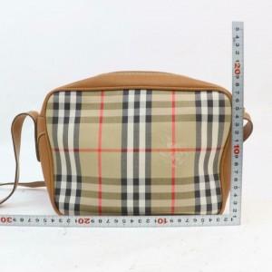 Burberry Camera Nova Check Cross Body 872839 Light Brown Canvas Shoulder Bag
