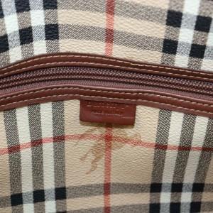 Burberry Duffle Nova Check Boston 871445 Brown Coated Canvas Weekend/Travel Bag