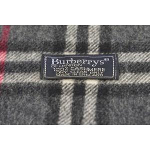 Burberry Grey Nova Check Classic Cashmere Scarf 313bur222