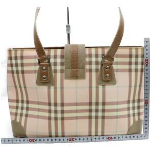 Burberry Nova Check Belt Sopper Novacheck 872597 Pink Cotton Blend Tote