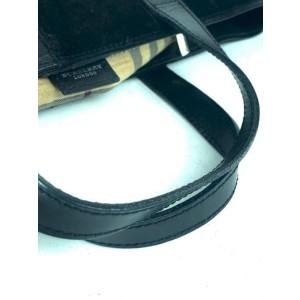 Burberry Nova Long 12bur626 Black Leather Tote