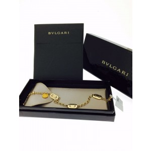 Bvlgari 18K Yellow Gold Parentesi Chain Link Bracelet 341548
