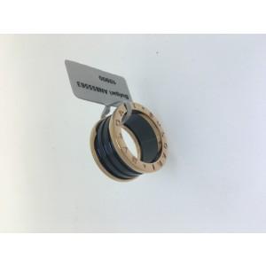Bulgari B. Zero 1 18K Rose Gold and Black Ceramic 4 Band AN855563 Ring