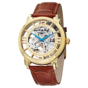 Stuhrling Winchester 165B2.3335K31 Gold-Tone Stainless Steel & Leather 44mm Watch