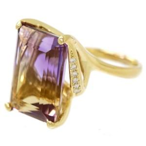 18k yellow gold Ametrine Diamond Ring