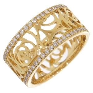 CHANEL Camellia Diamonds Band Ring