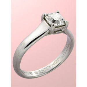 Tiffany & Co. Platinum Lucida Cut Diamond Engagement Ring