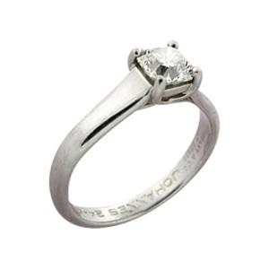 Tiffany & Co. Platinum Lucida Cut Diamond Engagement Ring