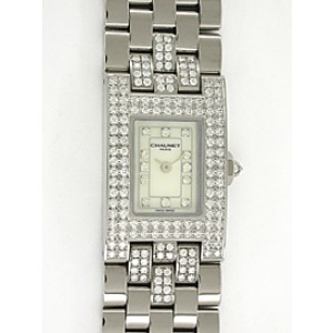 Chaumet Diamond Champs-Elysées 18K White Gold Watch