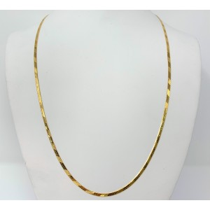 14k Yellow Gold Herringbone Link Necklace