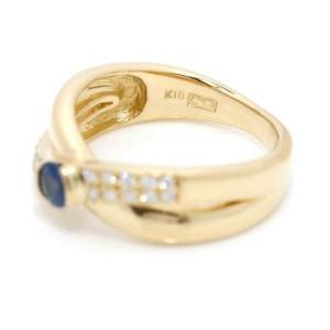 WAKO 18K yellow gold Sapphire Diamond Ring