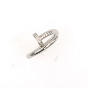 Cartier Juste un Clou 18K White Gold Diamond Ring Size 7.25