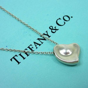 Tiffany & Co. 925 Sterling Silver Full Heart Necklace