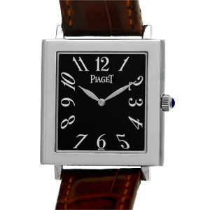 """Piaget """"Altiplano Tank Mйcanique"""" 18K White Gold Strap Watch"""