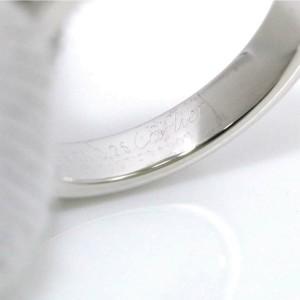 Cartier 18k white Gold diamond tank Ring RCB-59