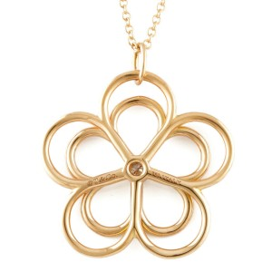 TIFFANY&Co. 18K Pink Gold Diamond flower Garden Necklace CHAT-357