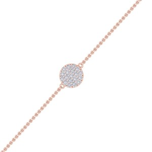 GLAM ® Circle Bracelet in 18K Gold with 0.50ct White Diamonds