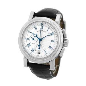 Breguet Marine Chronograph 18K White Gold 42mm Watch
