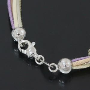 Zoccai Amethyst & Diamonds Design Cord Necklace