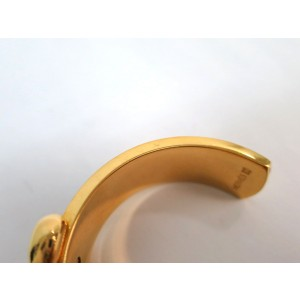 Hermes Leather And Palladium Bangle Bracelet