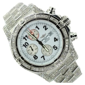 Breitling Chronomat Stainless Steel & 11ct  Diamond Mens Watch
