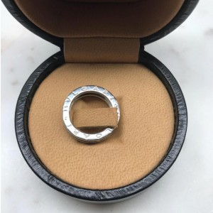 Bulgari B.Zero1 18K White Gold Single Band Ring Size 6