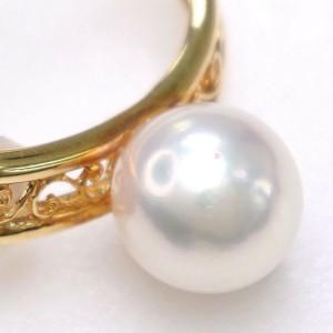 18k yellow gold/Pearl Earring