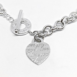 "Tiffany & Co. ""I Love You"" 925 Sterling Silver Toggle Necklace"