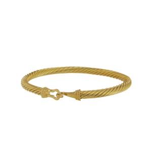 David Yurman 18k Yellow Gold Buckle Bracelet