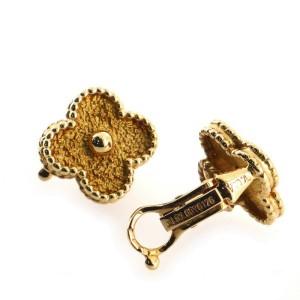 Van Cleef & Arpels Vintage Alhambra Earrings 18K Yellow Gold