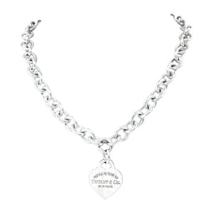 Tiffany & Co. Sterling Silver Please Return To Tiffany Heart Tag Necklace