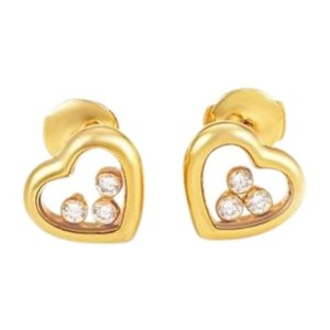 Chopard 83/4611 18K Yellow Gold Happy Diamond Earrings
