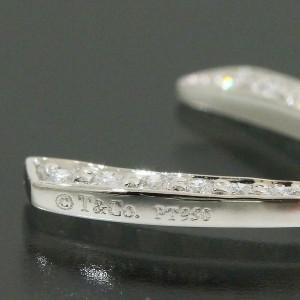 Tiffany & Co. 950 Platinum Full Diamonds Ribbon Motif Necklace