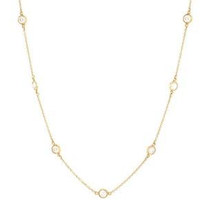 Tiffany & Co. Elsa Peretti Diamonds By The Yard 11 Stone Necklace 18K Yellow Gold and Diamonds 1.54CT