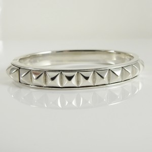 Lagos Sterling Silver 18K Yellow Gold Sugarloaf Reversible Bangle Bracelet