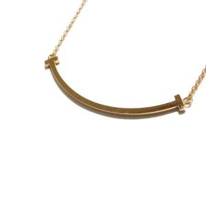 TIFFANY&Co. 18K Rose Gold T Smile Necklace