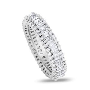 18K White Gold 2.24ct Diamond Eternity Band Ring Size 7