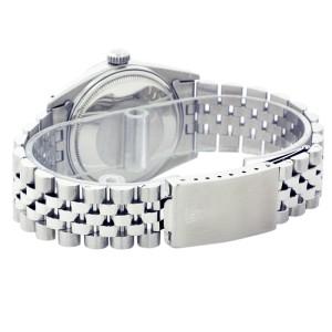 Rolex Datejust 1601 18K White Gold & Stainless Steel Diamond 36mm Mens Watch