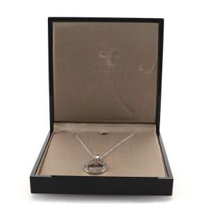 Bvlgari Bvlgari Bvlgari Ring Pendant Necklace 18K White Gold and Pink Sapphire
