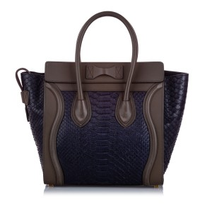 Mini Luggage Python Tote Bag