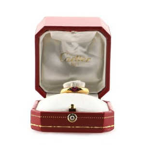 Cartier Eclipse Ring 18K Yellow Gold and Ruby 4.25 - 48