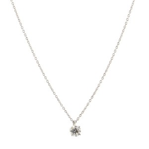 Tiffany & Co. Solitaire Pendant Necklace Platinum with Diamond .56CT