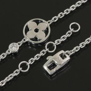 Louis Vuitton 18K White Gold 1P Diamond Chain Bracelet