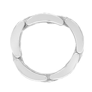 Cartier 18k White Gold Maillon Panthere 3 Diamond-Paved Rows Ring