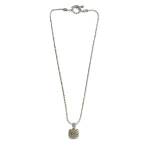 Effy Balissima Two Tone Light Brown Diamond Square Pendant Necklace