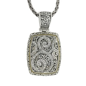 Effy Balissima Two Tone Diamond Charm Necklace