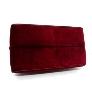 Cartier Attache Or Carry-on 239791 Bordeaux Suede × Leather Satchel