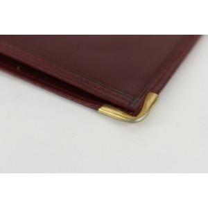 Cartier Men's Bordeaux Leather Bifold Wallet 10ct1230