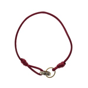 Cartier Love Rose & White Gold Red Cord Bracelet