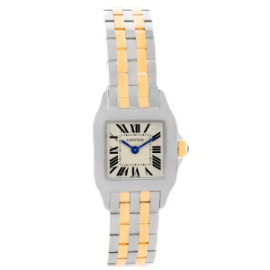 2dc0f17ee888 Cartier Santos Demoiselle W25066Z6 Stainless Steel   18K Yellow Gold 22mm  Womens Watch
